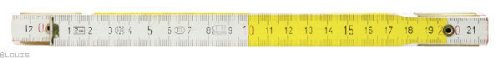 KS Tools 300.0063 Mètre Pliant en Bois, Blanc/Jaune, 2 m