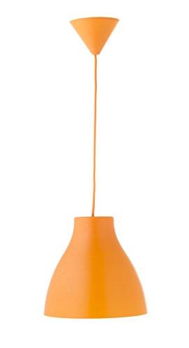 Els Banys, Pop, Lampada a sospensione, in PVC, cavo dello stesso colore del paralume, Arancione