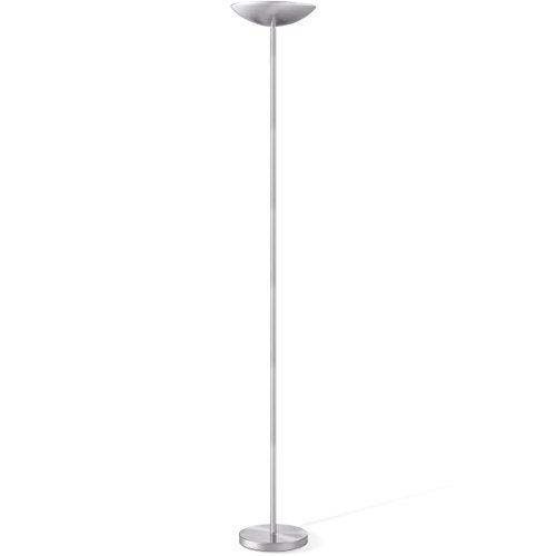Home Sweet Home LED Deckenfluter Uplight, 180 cm Höhe Inklusive 12,5 Watt LED Leuchtmittel Integriert, Stehleuchte Standleuchte LED-Fluter Standlicht, Wohnzimmerleuchte, 3000 Kelvin Warmweiß Stahl matt