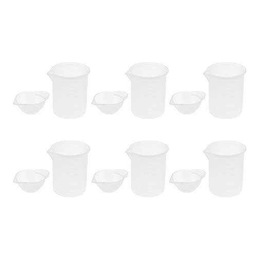 B Blesiya 12 Piezas Vasos Graduados Transparente