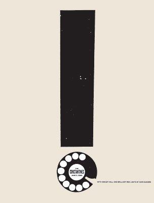 Die Constantines (DE) 09/06/06, Limited Edition, Musik Poster Druck durch kleine Erdspieße Original signiert sowie nummeriert, Motiv: Oakley Constantines, Hall, Brilliant Rote Leuchten