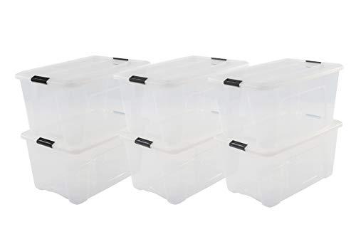 Iris 103424 Aufbewahrungsboxen \'New Top Box\' 45 L, Plastik, Klar, 39.5 x 57.5 x 30.5 cm