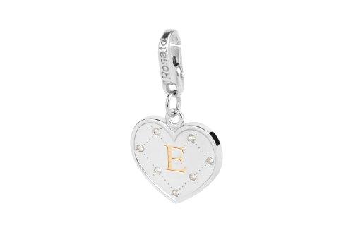 Rosato charm cuore iniziale lettera E AL005
