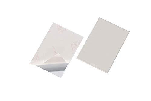 Durable 827619 Selbstklebetasche Pocketfix (Innenformat 148 x 105 mm, ohne Einsteckschilder) 25 Stück transparent