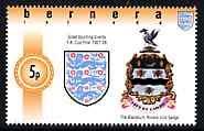 Bernera 1996 Great Sporting Events - Football 5p - Blackburn Rovers Club Badge Winners1927-28 FA Cup Final, u/m FOOTBALL SPORT JandRStamps -