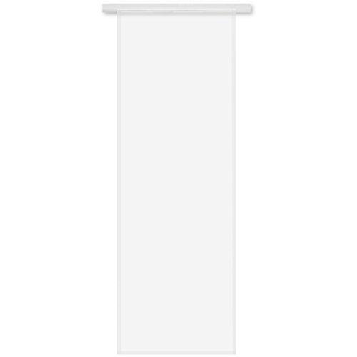 Transparenter Flächenvorhang Voile 60x245 cm wahlweise mit und ohne Technik, schlichte und stilvolle Fensterdekoration in vielen verschiedenen Farben erhältlich (weiß - reinweiß / ohne Technik)