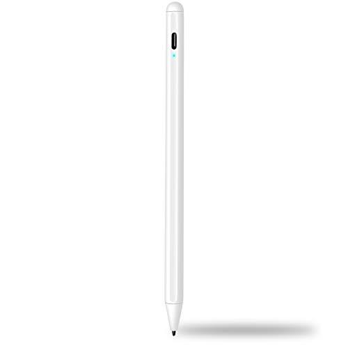 Stylus Stift 2. Generation für ipad - Wiederaufladbar Touchstift mit 1,0 mm POM Feiner Spitze & Palm Ablehnung, Eingabestift kompatibel für Apple iPad 6. / Air 3. / Mini 5. /Pro 11/ Pro 12.9(3.)