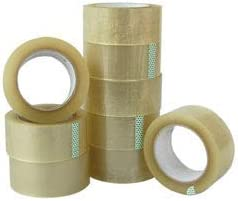 2 INCH Transparent PACKGING Tape 50 Meter (Pack of 6)