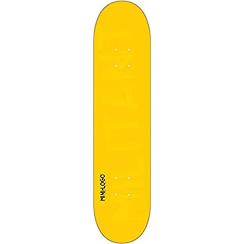 Mini Logo Skateboard Deck 127/K-12 - 8.0 Yellow by Mini-Logo