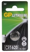 Price comparison product image GP BATTERIES GPPBL1620000 CR1620 Lithium Coin cell Battery
