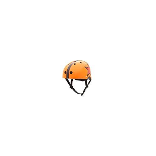 Trybike- Casco Naranja con Estrella Talla S, Multicolor (1)