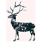 Custom Fashion Deer Silhouette From green Trees Branches Zippered Throw Pillow Cover Cushion Case 18x18 (one side)