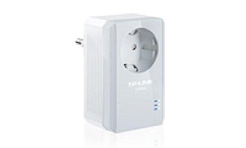 TL-PA4010P TP-LINK TL-PA410P AV500+-Nano-Powerline-Ethernet-Adapter mit Frontsteckdose, HomePlug AV, Single-Pack, mehrere IPTV-Streams, Nano-Size/