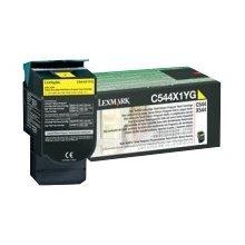 Lexmark C544X1YG Extra High-Yield Toner, 4000 Page-Yield, LEXC544X1YG by Lexmark