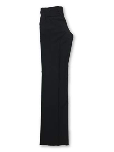 Wool Zip-fly Hose (Armani Collezioni Trousers in Black - W32)