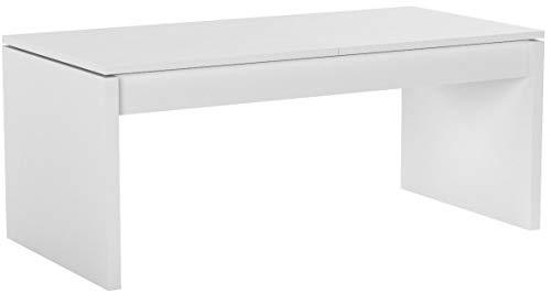 Habitdesign 001642A - Mesa de Centro elevable Modelo Side, mesita de Salon Comedor Acabado en Blanco...