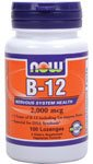 B-12, 2,000 mcg, 100 Lozenges - Now Foods - Qty 1 (Now Methyl B12)