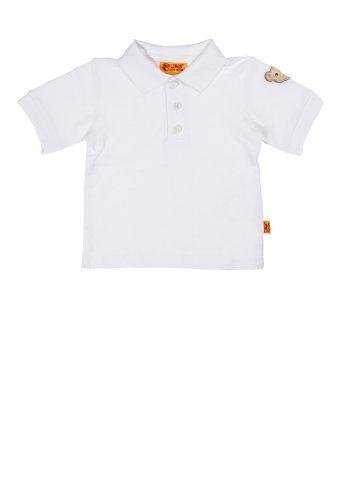 Steiff Unisex - Baby Poloshirt 1/4 Arm 9916861, Einfarbig, Gr. 86, Weiß (Bright White 1000)