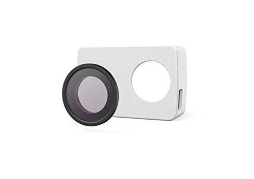 Schutzlinse und Ledertasche Schwarz für Action Camera,White-4K