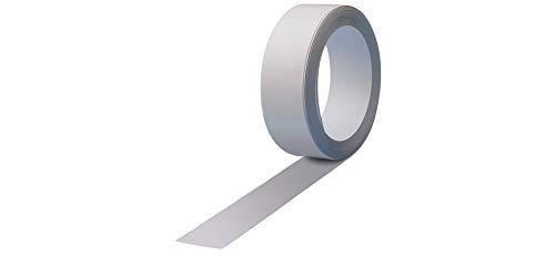 Maul Ferroband, Selbstklebende Magnethaft-Wandleiste aus Stahlblech, Größe 2500 cm x 3,5 cm, Weiß