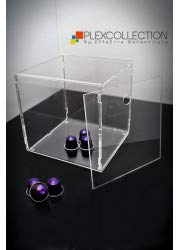 Plexcollection cubo porta cialde capsule caffè in plexiglass cm 20x20x20