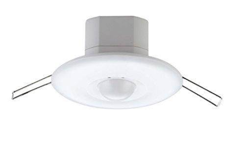 ZEYUN Einbau HF Bewegungsmelder 360° mit Dämmerungssensor, LED/Energiesparlampe geeignet, bis 3000W, 30 Minuten Bewegungsdauer