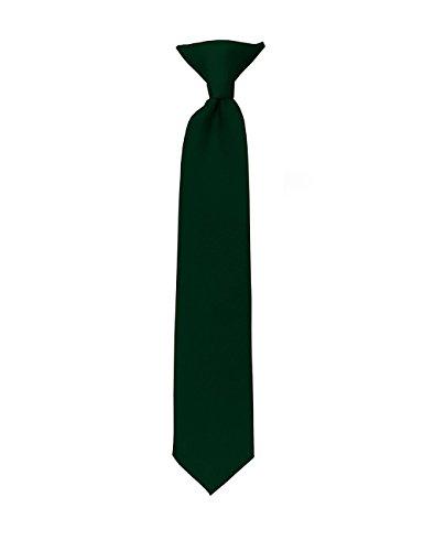 Cravate à clip pour garçon à couleur unie de NYFASHION101 Vert