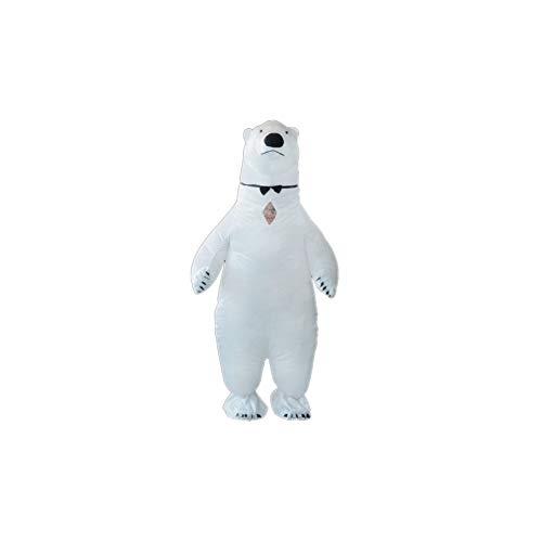 J.Sparking Halloween/Navidad Fiesta Traje Inflable Disfraz Parodia Cartoon Blanco Oso Polar Muñeca Inflable Traje Traje De Cosplay Adulto (Opcional Múltiple)