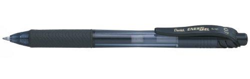 Pentel EnerGel X BL107-AX Gel-Tintenroller, schwarz, 0,35 mm Strichstärke, Druckmechanik, nachfüllbar