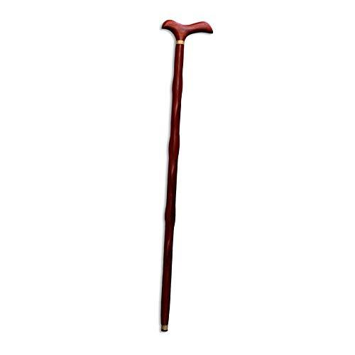 Mahagoni-massivholz Sitz (CANE Mahagoni rote Birne Hühnerflügel Holz Massivholz Holzstock Outdoor Trekkingstock Tip Slip Strong,Red)