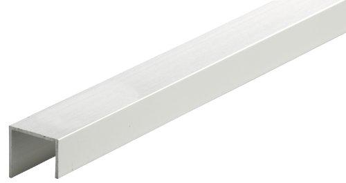 GAH-Alberts 475192 U-Profil - Aluminium, silberfarbig eloxiert, 1000 x 20 x 22 mm
