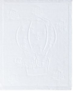 Pirulos Globo - Toquilla tricot, algodón, 95 x 95 cm, color blanco