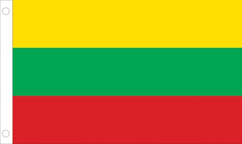 Allied Flag Outdoor Nylon Litauen Flagge United Nation 3 by 5-Feet Yellow, Green, Red (Nations-flag United)