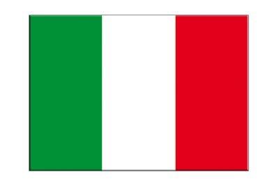 Italien Flagge, italienische Aufkleber, 5 Stück - 7 x 10 cm, MaxFlags®