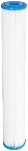 Hydronix SPC-25-2030 Polyester Pleated Filter 2.5 OD X 20 Length, 30 Micron by Hydronix