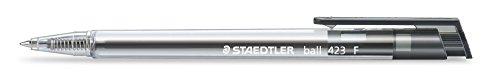 Staedtler 423F-9- Penna a sfera retrattile, larghezza tratto F, 0,3mm, 10pz, colore: nero