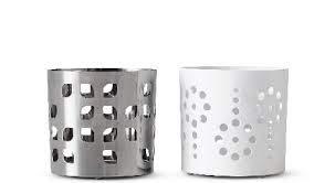 Unbekannt IKEA Vackert Kerzhenhalter Set Silber/Weiss