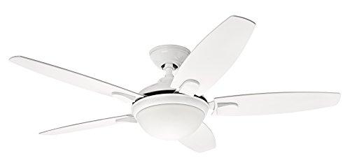 Hunter Fan 50613 Hunter Contempo Blanc 132cm Ventilateur de plafond avec éclairage Acier, 52 W, 132 cm