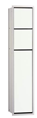 Emco 975027450 Unterputz WC Modul Asis 150 in aluminium optiwhite 809 mm, weiß, One Size