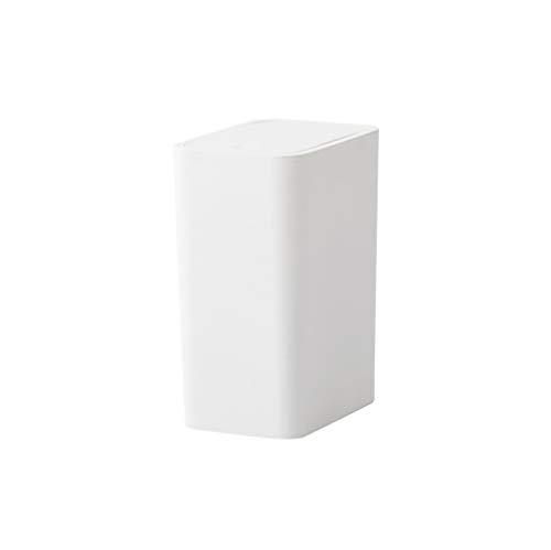 Mülleimer 8l DrüCken Abdeckung Typ KüChenabfalleimer Home Wohnzimmer Schlafzimmer Presse Typ Badezimmer Kreative GroßE Papierkorb Weiß White Pedal Bin