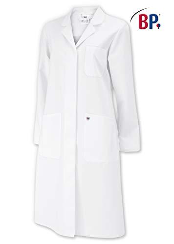 Bata de laboratorio para mujer, largo hasta la rodilla, algodón, color blanco, talla 54
