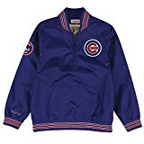 Mitchell & Ness Herren Jacke Chicago Cubs MLB Slider 1/4 Zip, Unisex Damen Mädchen Jungen Herren, blau, Small -