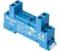 Zocalo für Rele mit Schraubklemmen für Käfig Panel oder DIN-Schiene 35mm Rele Series 40.5140.52-40.611-2Kontakte Schritt 5.0mm 10A Finder 95.65 -