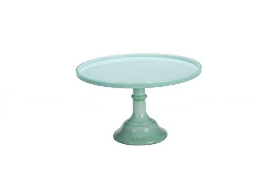 Preisvergleich Produktbild HETAO europäisch Tablett Keramikplatte Kuchenablage Wind Jade Farbe Glas Hochzeit Nachspeisen Geschenk , 30cm