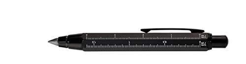 TROIKA ZIMMERMANN 5,6 - PEN56/BK - Matita da carpentiere - matita porta mine (5,6 mm, mine HB,) - righello in centimetri/in pollici - scala 1:20 m/1:50 m - ottone - nero - TROIKA-originale