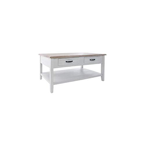 Table Basse Rectangulaire Blanche.Atmosphera Table Basse En Bois Damian Blanche