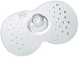 MAM Stillhütchen Gr??e 1 (für kleine Brustwarzen) im Doppelpack, Brusthütchen zum Schutz beim Stillen, Brustwarzenschutz...