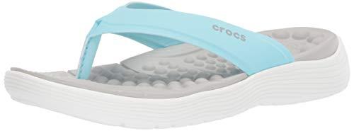 Crocs Damen Reviva Flip Women Zehentrenner, Blau (Ice Blue/White 4s3), 39/40 EU -
