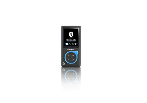 Lenco MP3-Player Xemio-768 - MP3-MP4-Player, 8 Gb Micro SD-Karte Inklusive Ohrstöpsel und bluetooth- blau (Mp4-player Video)