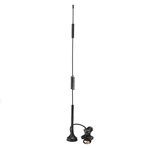 Oumij 4G / 3G / GSM LTE AutoAntenne 700-2700MHz Dachantenne 36cm Autoantennen-Adapter Autoradio Antennenverstärker mit 18dBi Hoher Gewinn (3 Meter 5 Meter 10 Meter)(3 Meter)